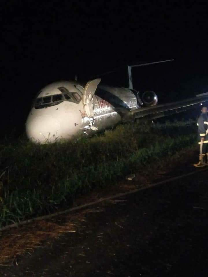 Image result for Dana Airline Plane Skids Off Port Harcourt Runway,