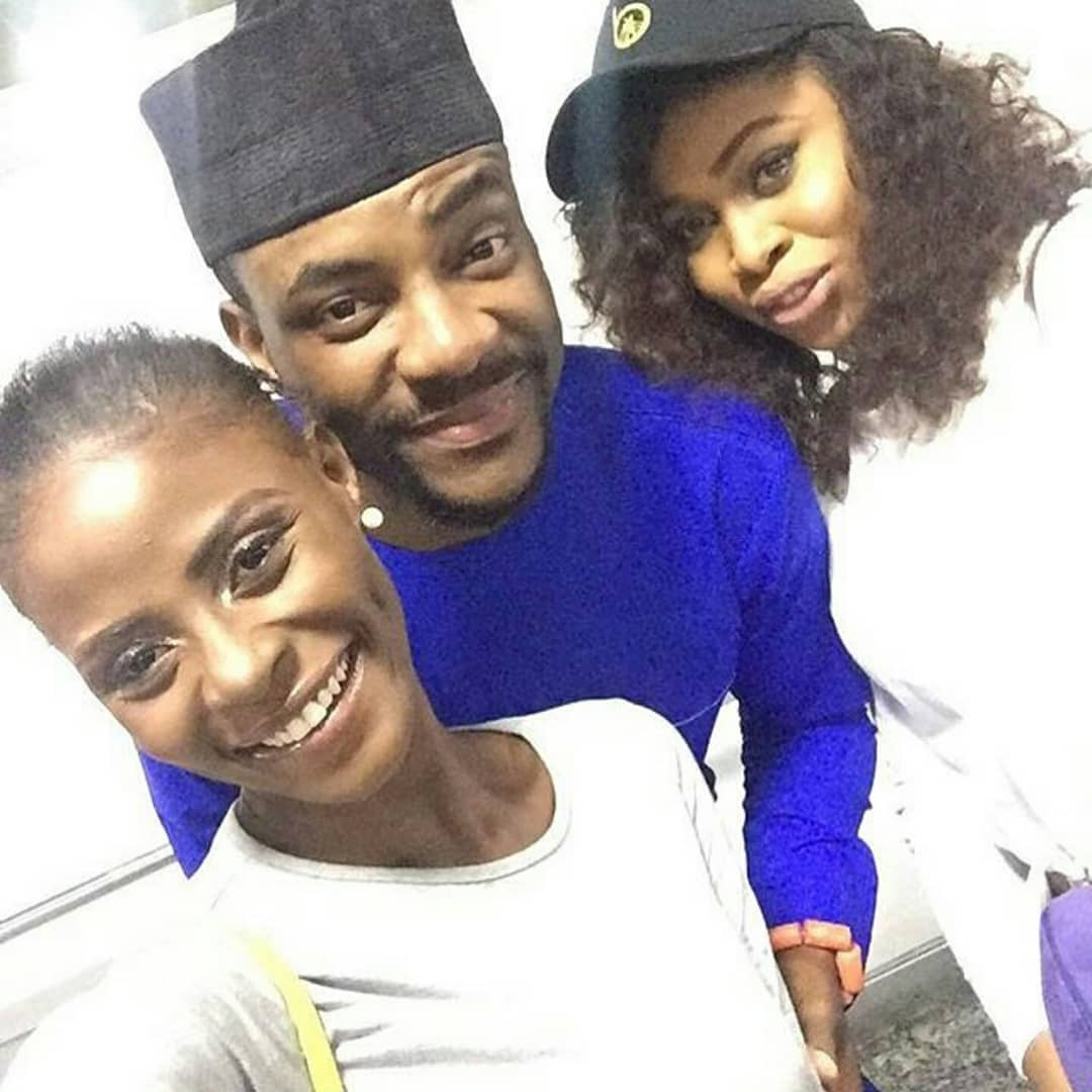 Former Bbnaija Housemates, Khloe And Princess Pictured With Ebuka