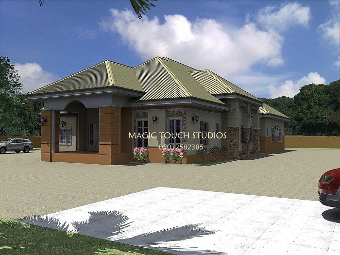 Architectural designs for nairalanders who want to build for Cost of building a 4 bedroom bungalow in nigeria 2017