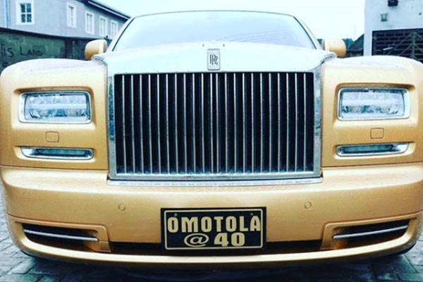 Omotola Jalade Celebrates Her 40th Birthday With Gold Rolls Royce Phantom (Photos)