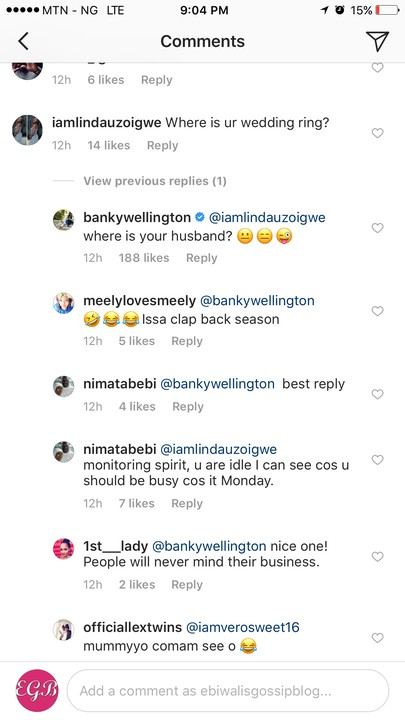 """""""Where Is Your Wedding Ring?"""" – Fan Asks Banky W. See His Clap Back"""