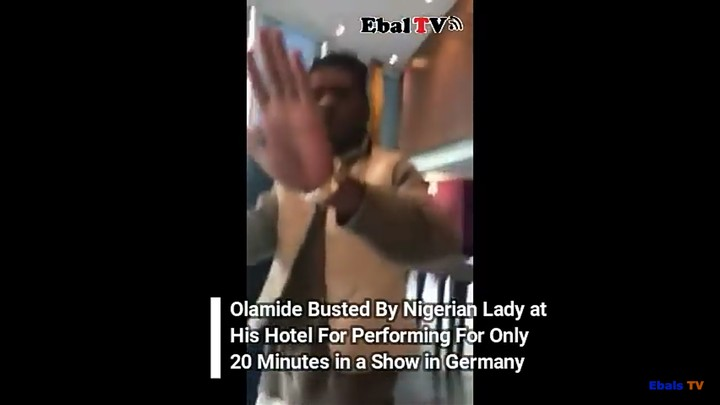 Olamide Confronted By A Lady In Hotel In Germany For Performing Only 20 Minutes (Video)