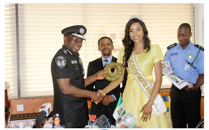 Beauty Queen Who Wore Police Uniform In Egypt Becomes Nigeria Police Ambassador (Photos)