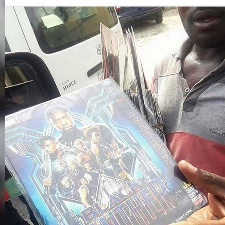"LORD! Man Spotted Hawking ""Black Panther"" Movie In Lagos Traffic (Photo)"