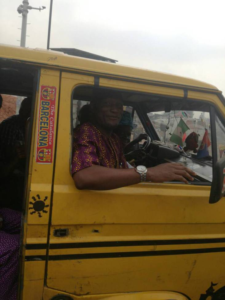 Lagos LG Boss Spotted Riding Public Bus (Pics)