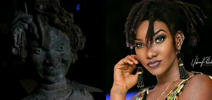 , Horrible Statue Of Ebony Reigns Storms Social Media (Photos)