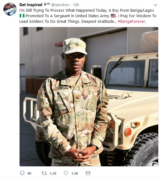 Handsome Nigerian Promoted To A Sergeant In United States Army (Pictures)