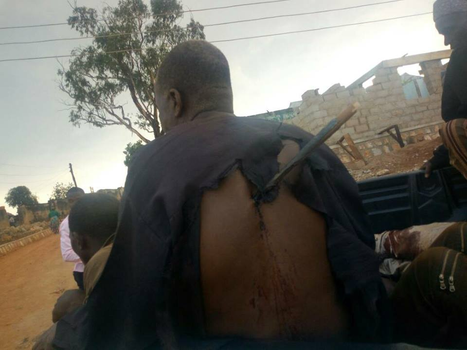 a victim with Fulani arrow on his back