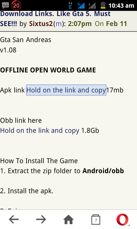 Top Android HD Games And Their Download Links  Like Gta 5