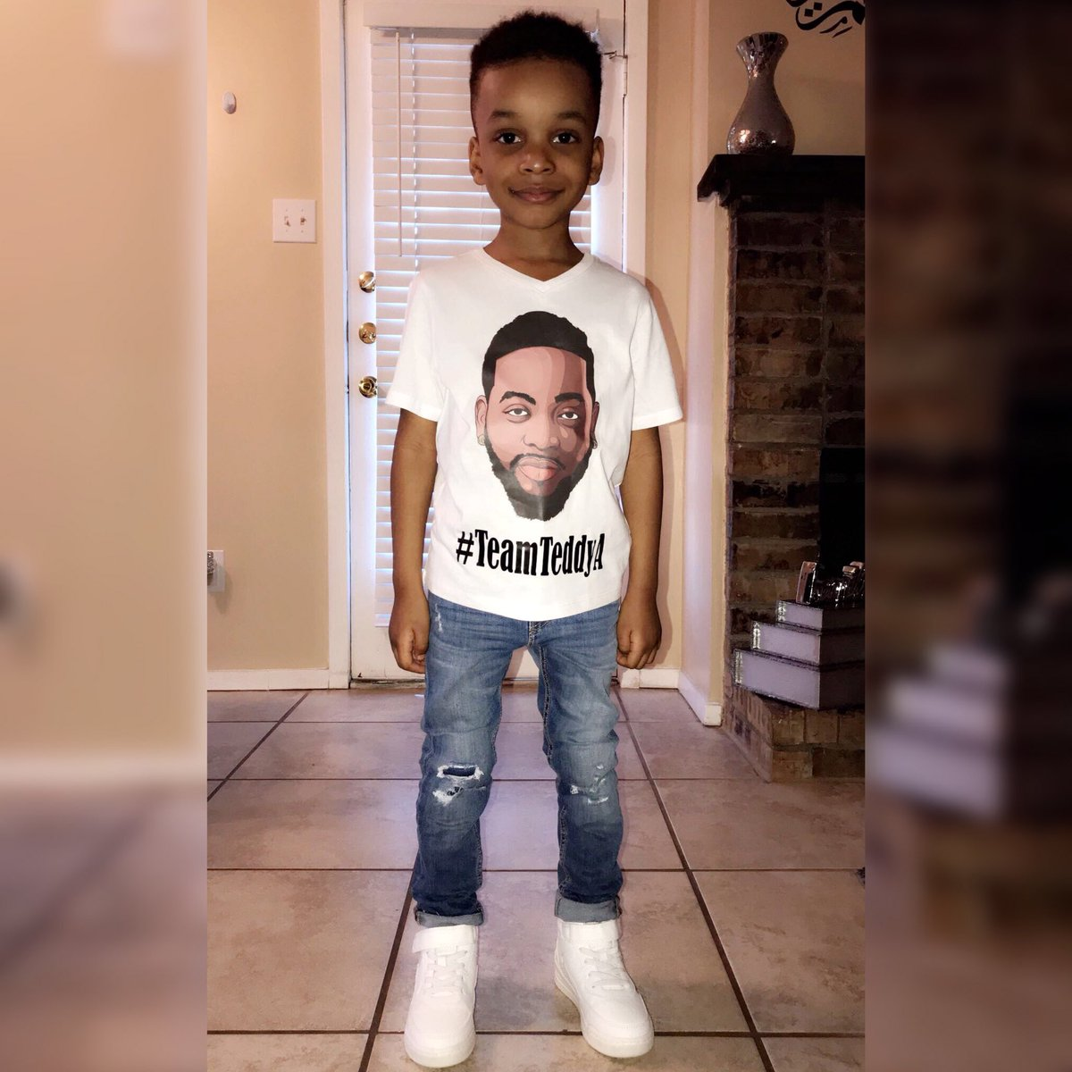BBNaija: Teddy A's Baby Mama Shares Photos Of Their Son Rocking His Campaign T-shirt