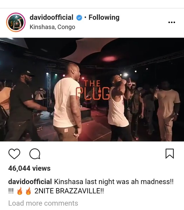 Davido Brings Real Madrid's Banner To Congo As He Performs (Photos)