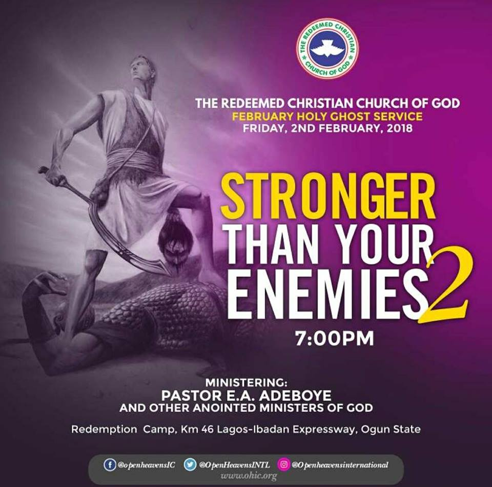 Stronger Than Your Enemies Part 2 Sermon And Prayer Points