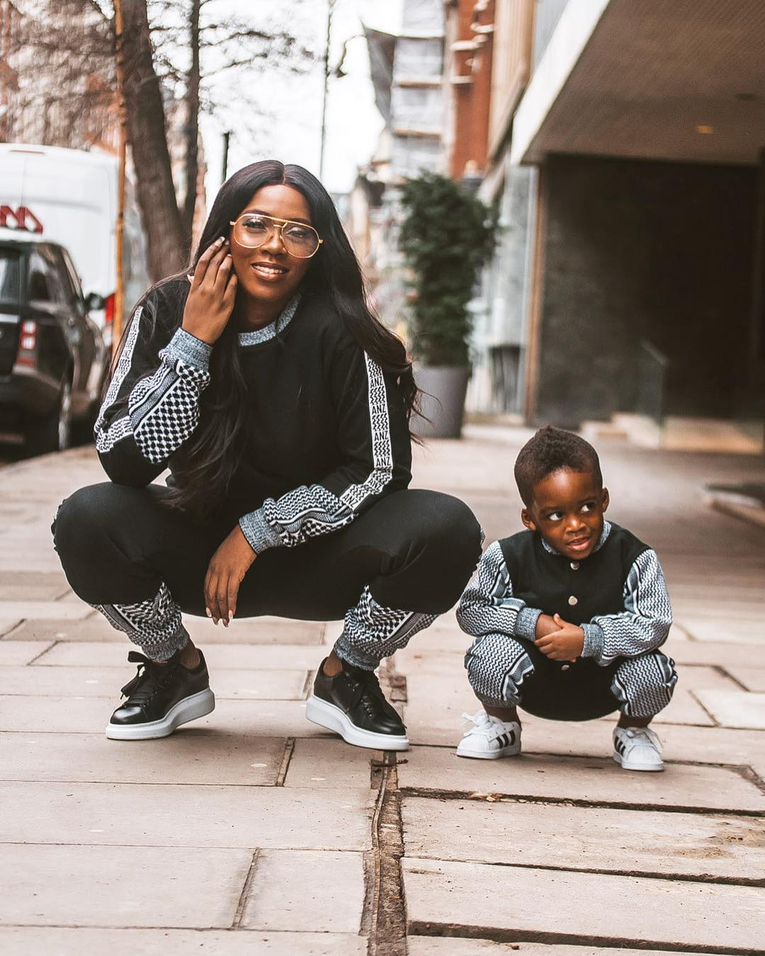 HOT!!!: Tiwa Savage And Her Son Rock Matching Outfits