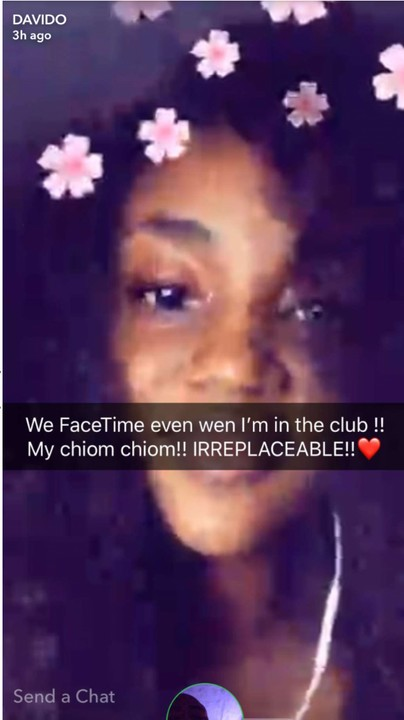 Davido And His Girlfriend, Chioma Facetime While He Clubs, As He Gushes Over Her