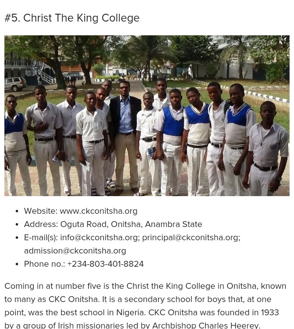 Pictures of Anambra best schools - Politics (2) - Nigeria