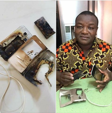 (Photos) – Man's Phone Burnt After Answering Call While Charging It