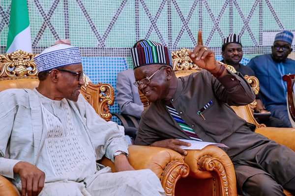 Caption This Photo Of Governor Ortom With Buhari In Benue State
