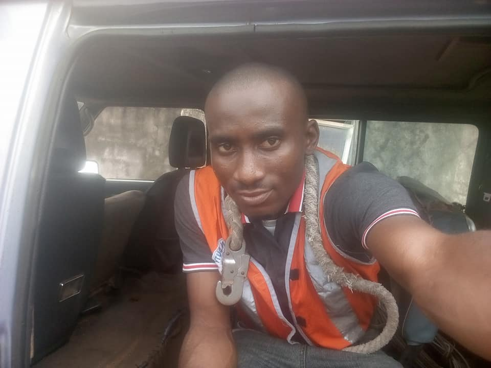 PHOTOS: Man Survives Electrocution Days After Car Accident In Imo State.
