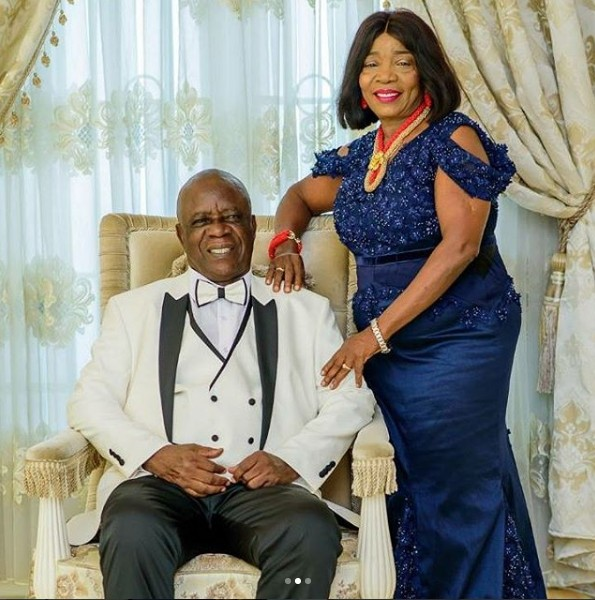 PHOTO: Linda Ikeji Celebrates Her Parents' 39th Wedding Anniversary.