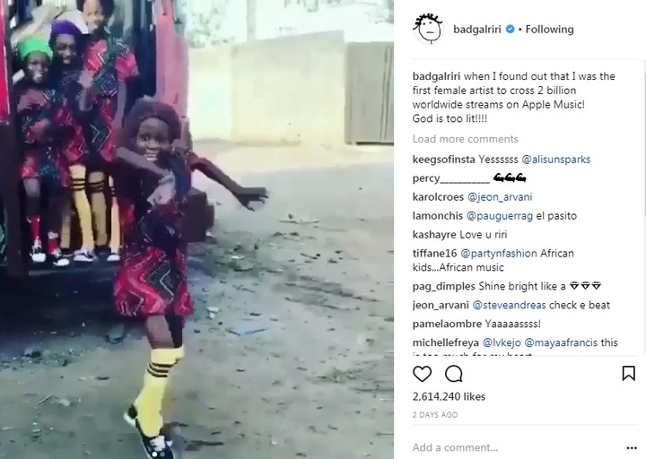 Ikorodu Kid Dancers Show Rihanna Love. The Star Singer Responds (Photos)