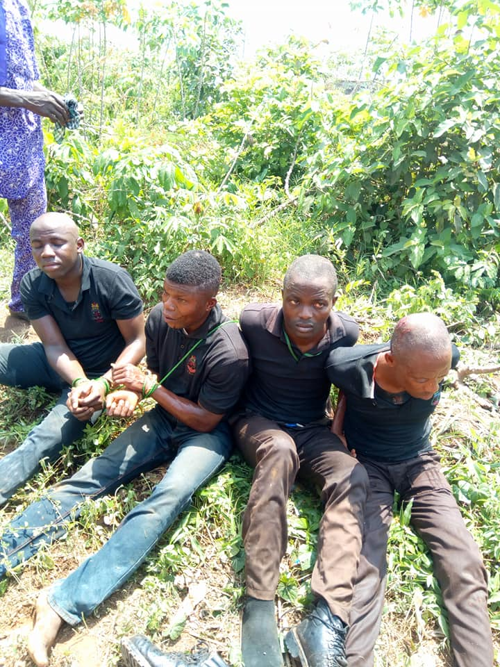 Photos: Vigilante Members Arrested After Attacking And Abducting Man In Lagos