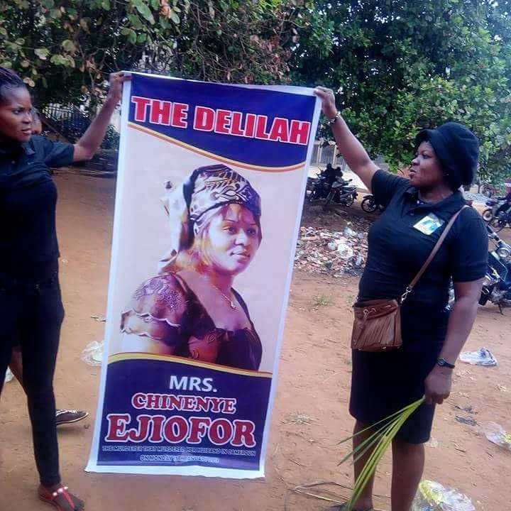 Nigerian Man Killed By Wife In Cameroon Buried Today, Wife's Picture Attached