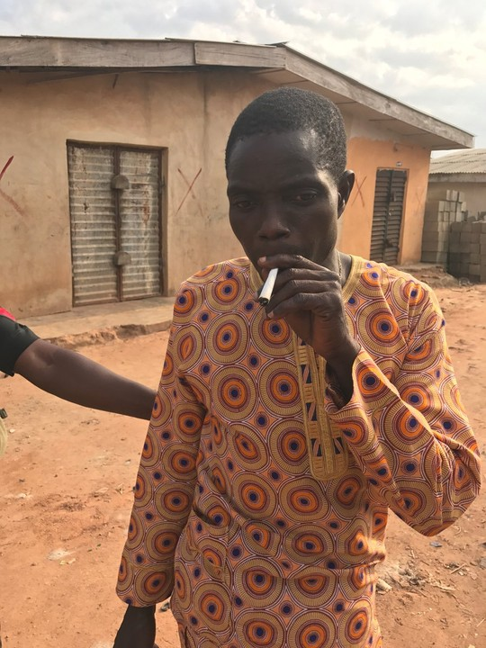 {filename}-Man High On Weed Caught Smoking By Police (photos)