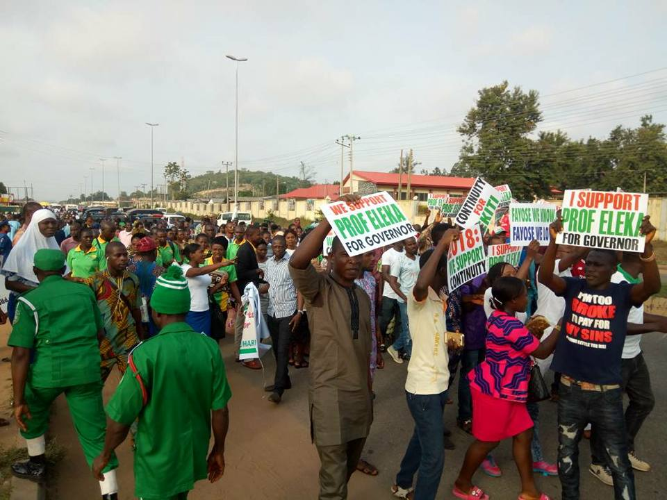 Ekiti 2018: N-Power Beneficiaries Endorse Fayose's Deputy As Ekiti Governor [PHOTOS]