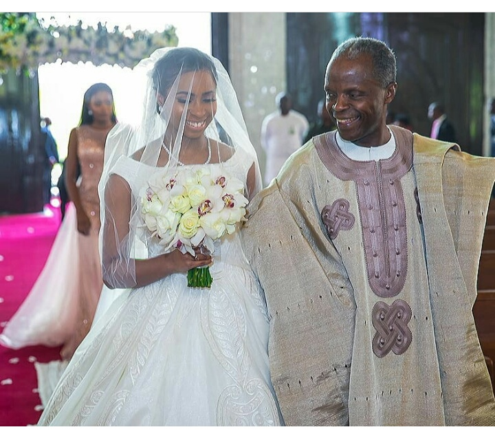 See The Moment VP Osinbajo Walked His Daughter Down The Aisle At Her Wedding