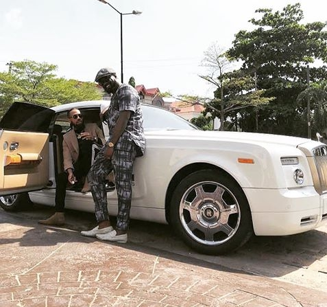 Phyno And Jude Okoye Pose With Phyno's New Rolls Royce