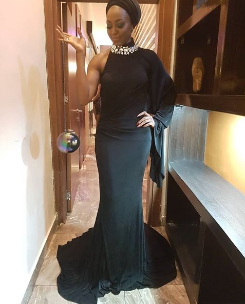 HOT!!!: Actress Kate Henshaw Looks Ageless In Black Gown