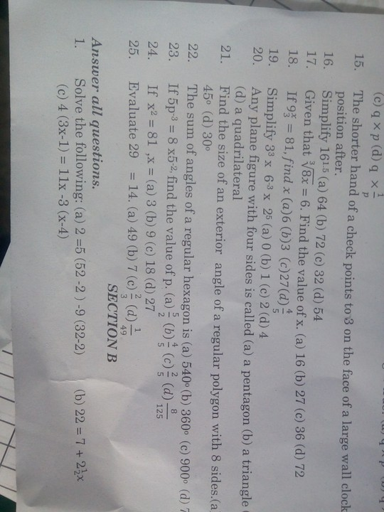 See This Ss1 Mathematics Questions - Education - Nigeria