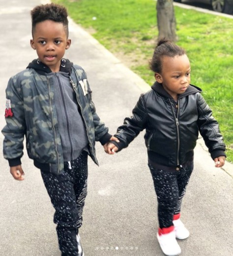 Sons Of Obafemi Martins And Abigail Barwuah In Adorable Photos ...