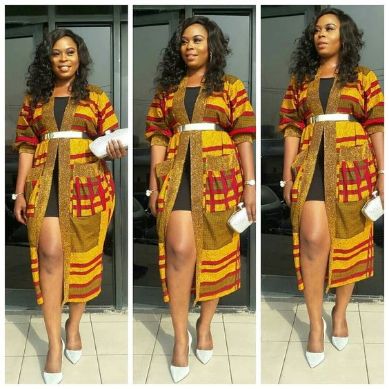 ab0e9260af21 We have selected the latest Ankara kimono style 2018 for you. You should  check how the beautiful ladies below irritate their Ankara kimono style  2018 and ...