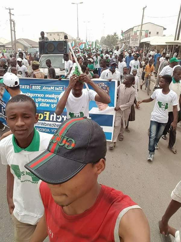 Bauchi Youths Stage A Rally In Support Of Buhari's Continuity (Photos)