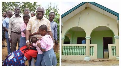 Primary School Best Graduating Student Gets New House As Gift In Rivers. Photos