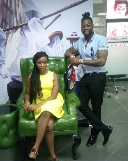Evicted BBNaija Lovers, Teddy-A And Bambam Pictured At The Multichoice Office