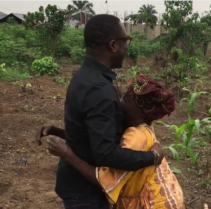 Image result for Comedian Julius Agwu pays a surprise visit to his mother at her farm in Rivers state (Video)