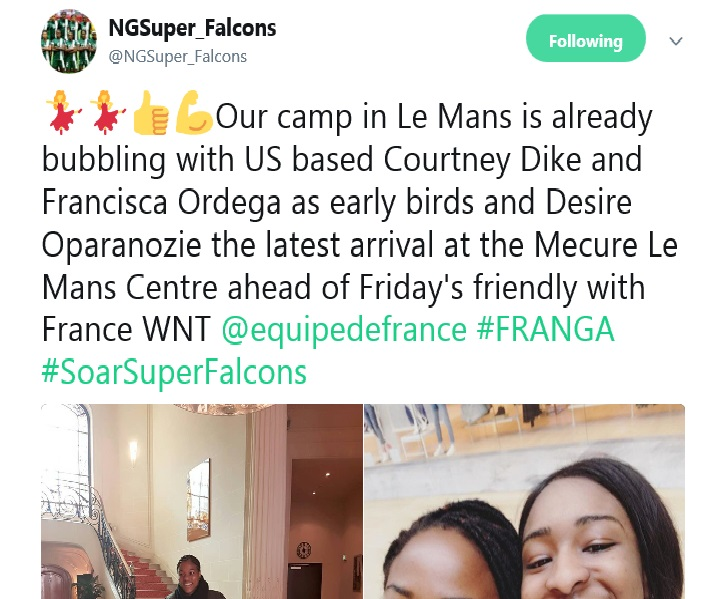 Cybereagles • View topic - Super Falcons Play France In Friendly