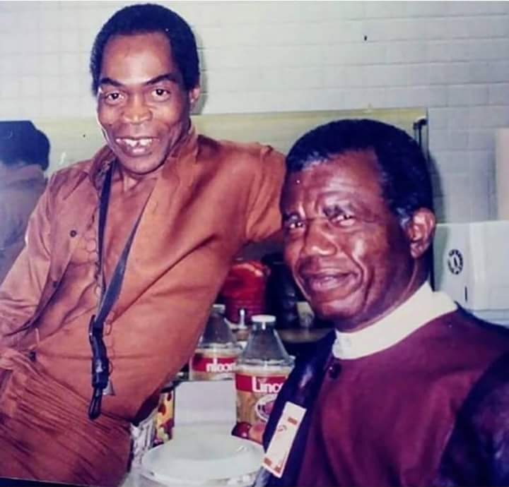Throwback Picture Of Chinua Achebe And Fela Kuti In The 1970s
