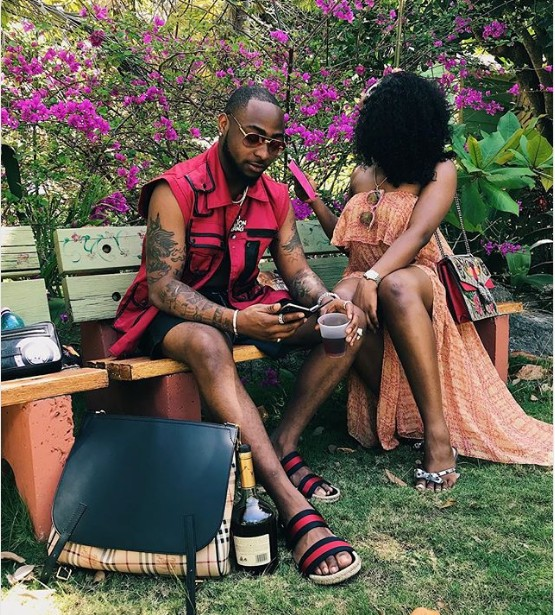 "HOT!!!: ""Lifetime Insurance"" – Davido As He Shares Photo With His Girlfriend In Barbados"