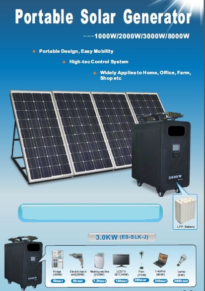 Re: Portable Solar Power Generator by Saddam : 11:06pm On May 07 ...