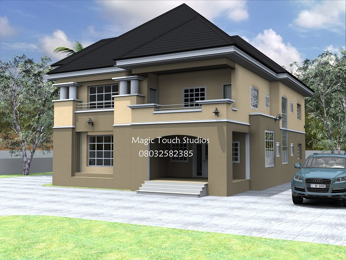 Building plan for 5 bedroom duplex home plans ideas for Modern duplex house plans in nigeria