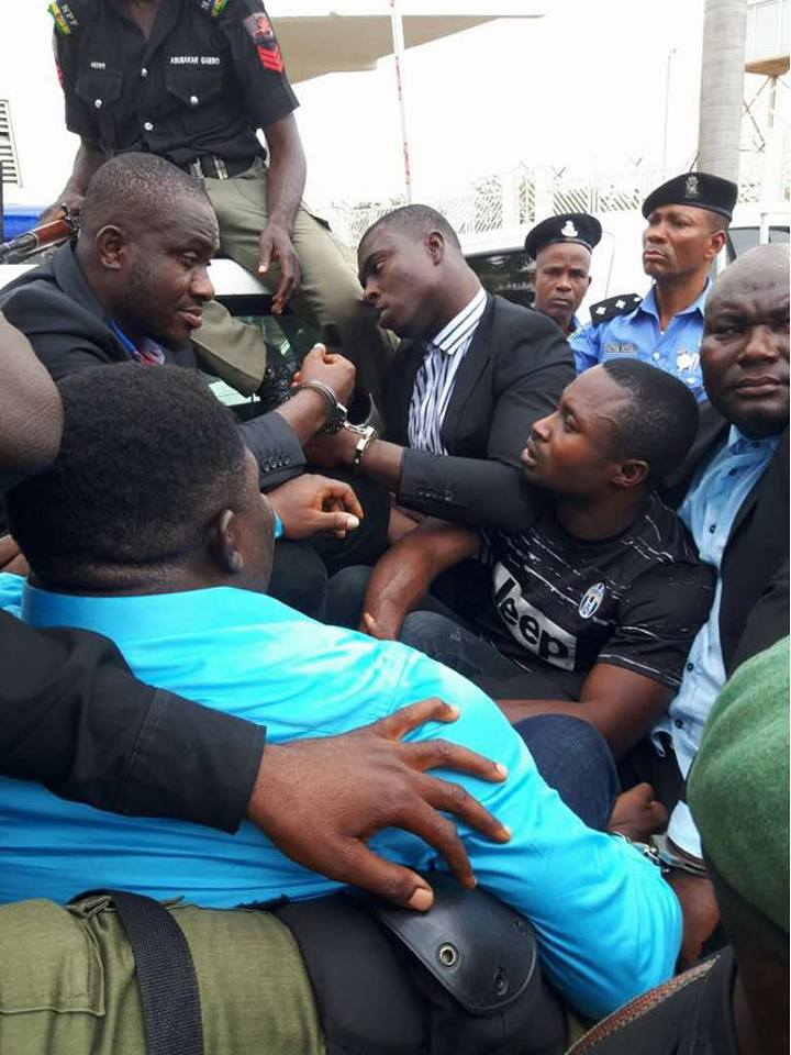 Thugs That Stole Senate's Mace Finally Arrested, Placed In Handcuffs (Photos)