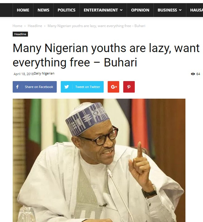 President Buhari's Speech Vs Ex-President Jonathan's Speech On Nigerian Youths