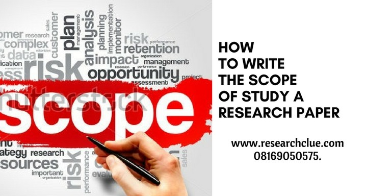 what is scope of study