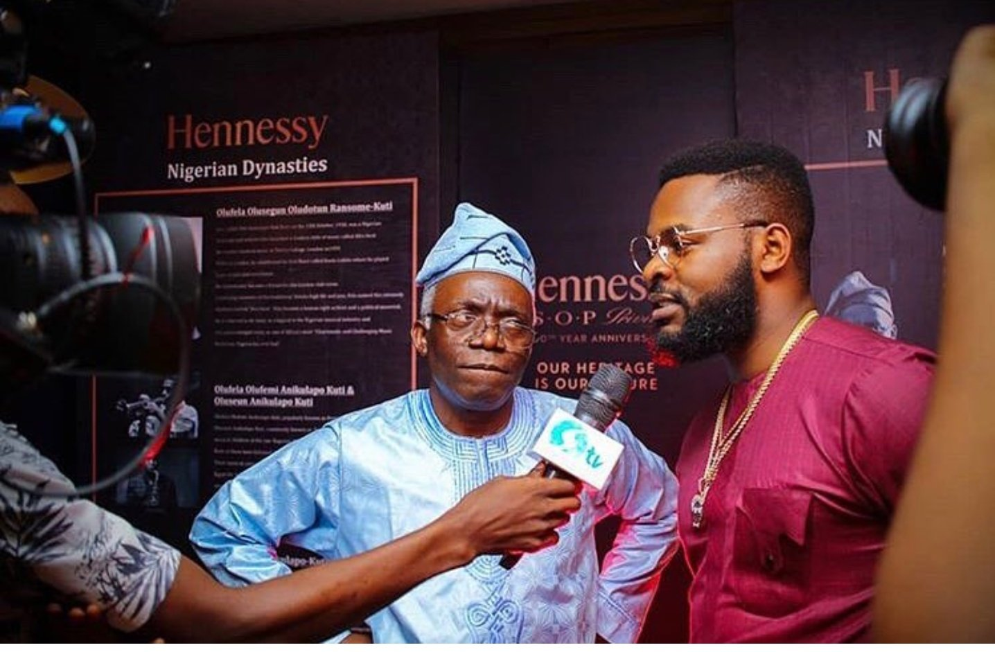 Caption This Photo Of Falz And His Father, Femi Falana ...