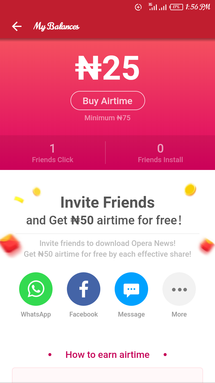Get Up To ₦10K Worth Of Airtime On Opera News App