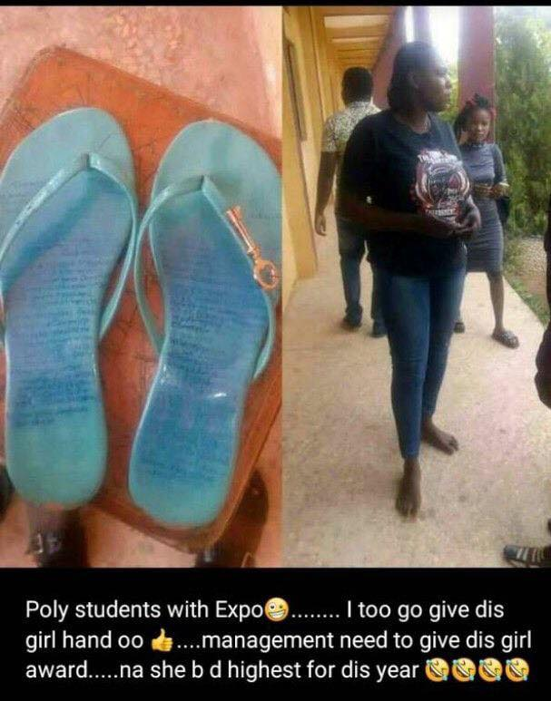 SHAME!!!:  Female Student Caught After Carrying 'Expo' In This Manner For Exam.