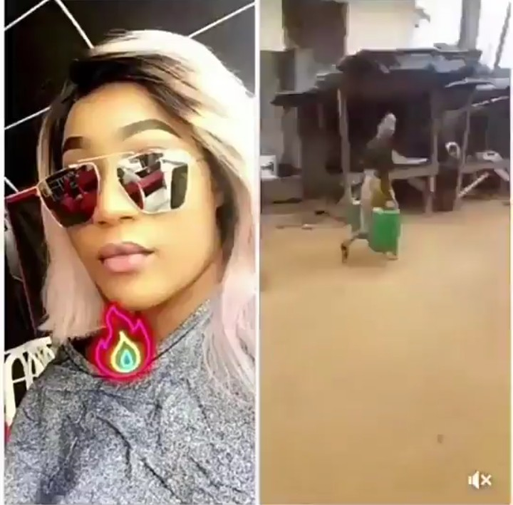 Slay Queen With UK Location Fled After Being Spotted Carrying Gallons Of Water